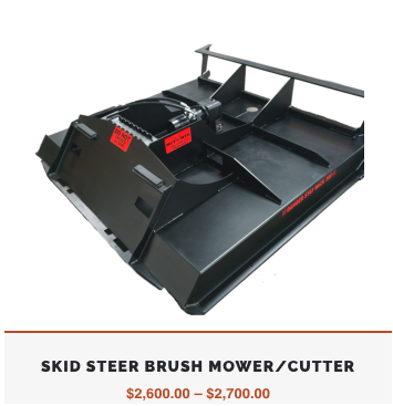 Skid Steer Brush Mower   Best Skid Steer Brush Cutter