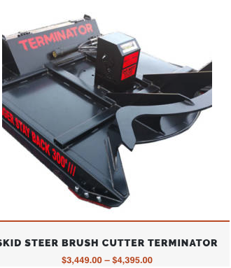 Skid Steer Brush Cutter Terminator   The #1 Brush Cutter