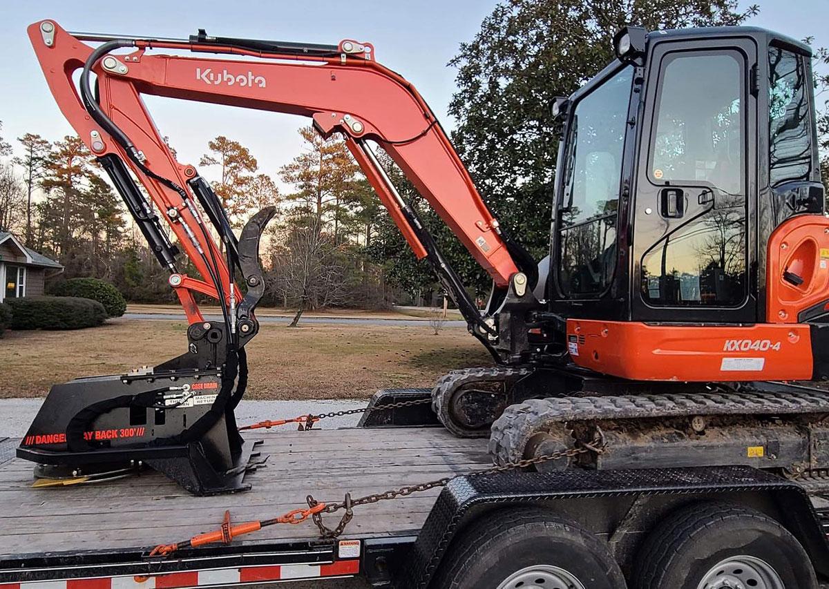 heavy duty excavator brush cutter